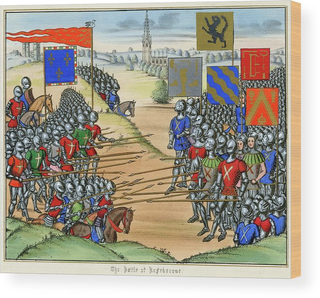 French Wood Print featuring the drawing The French Defeat The Flemish by Mary Evans Picture Library