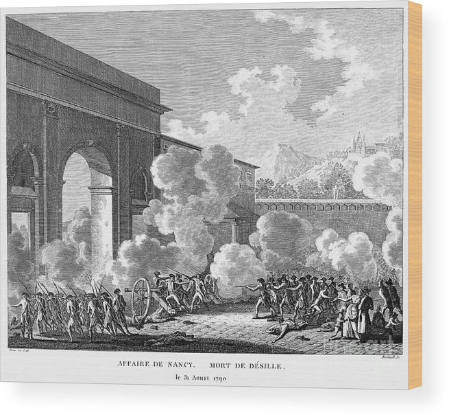 1790 Wood Print featuring the photograph French Revolution, 1790 by Granger