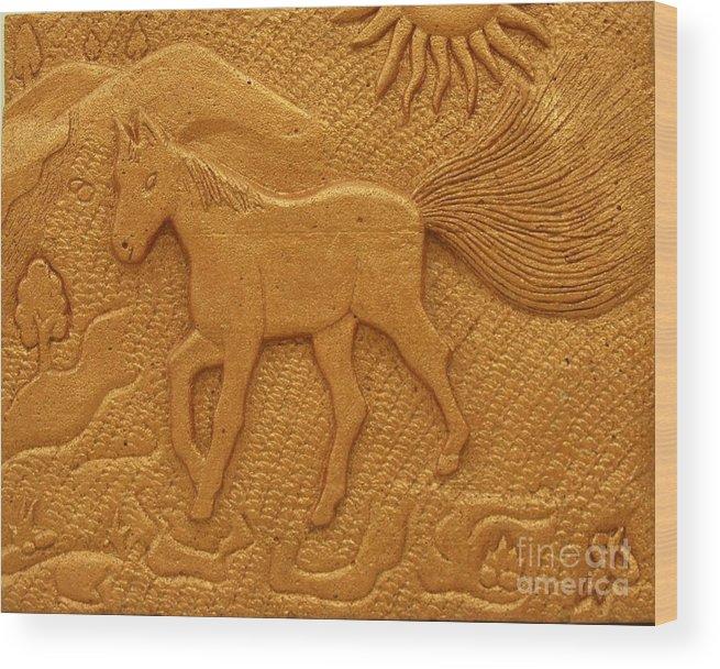 Horse Wood Print featuring the photograph Horse by Pradeep Makwana