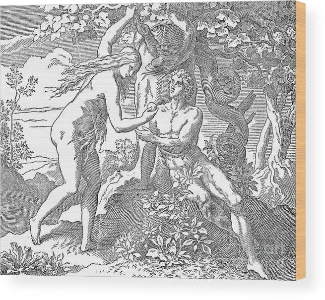 Adam Wood Print featuring the photograph Adam & Eve by Granger