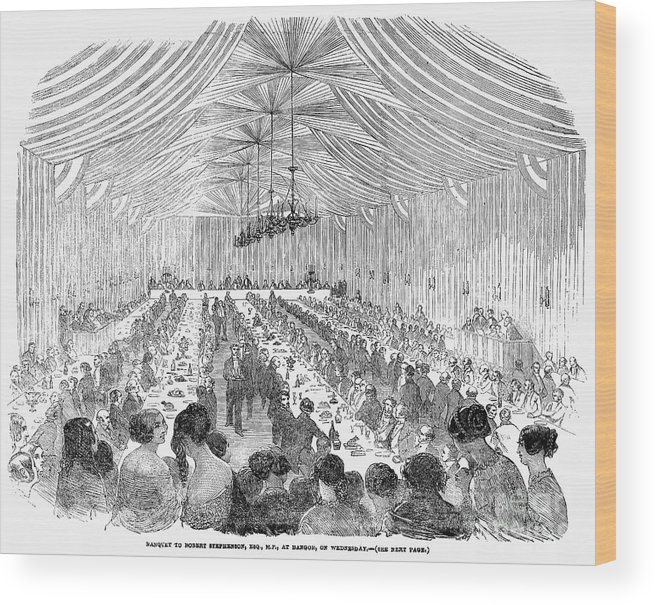 1851 Wood Print featuring the photograph Banquet, 1851 by Granger