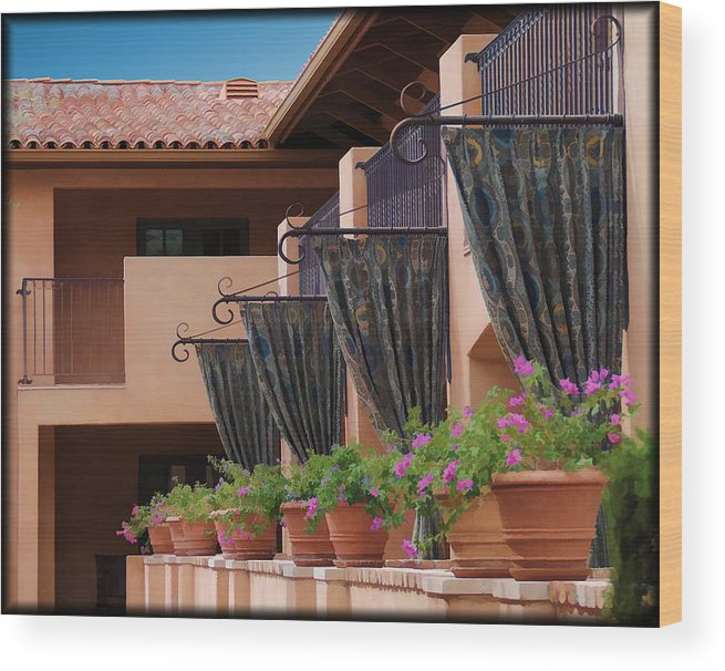 Resort Wood Print featuring the photograph Duplication by Diane Wood