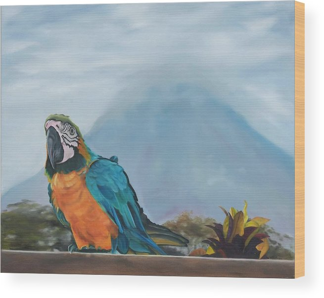 Wildlife Wood Print featuring the painting Estefania by Pamela Bell