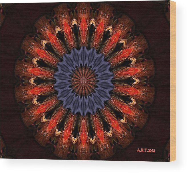 Mandala Wood Print featuring the photograph Fishbowl by Arthur Thompson