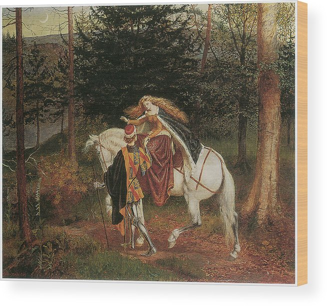 Walter Crane Wood Print featuring the painting La Belle Dame Sans Merci by Walter Crane