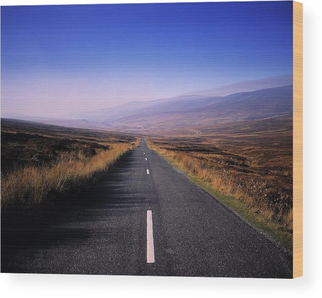 Regional Road Wood Print featuring the photograph Regional Road In County Wicklow by The Irish Image Collection