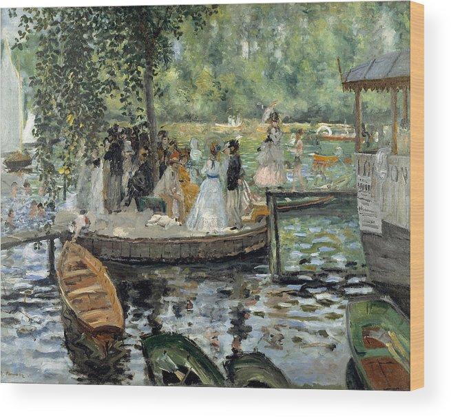 Boat Wood Print featuring the painting La Grenouillere by Pierre-Auguste Renoir