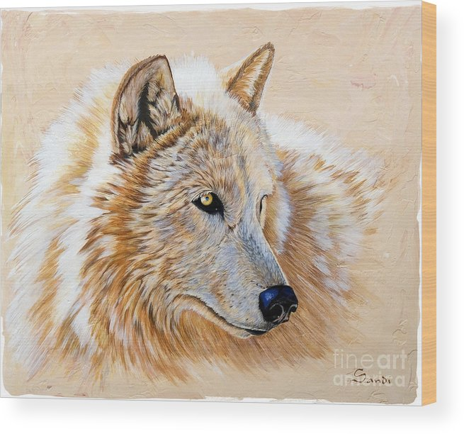 Acrylic Wood Print featuring the painting Adobe White by Sandi Baker
