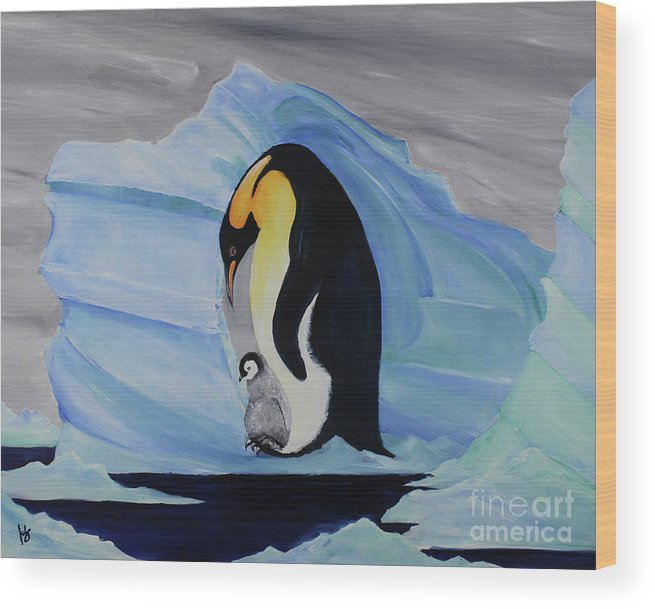 Oil Painting Wood Print featuring the painting At Sea by Katherine Fishburn