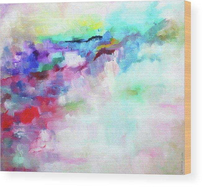 Bright Art Wood Print featuring the painting Bright Development by Elisaveta Sivas
