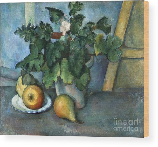 1890 Wood Print featuring the photograph Cezanne: Still Life, C1888 by Granger
