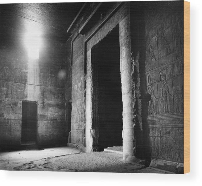 African Wood Print featuring the photograph Egypt: Dendera: Temple by Granger