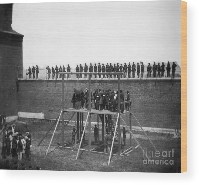 1865 Wood Print featuring the photograph Execution Of Conspirators by Granger