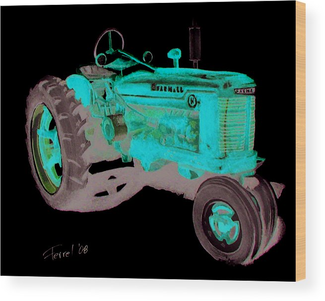 Farmall Wood Print featuring the painting Farmall Tractor by Ferrel Cordle