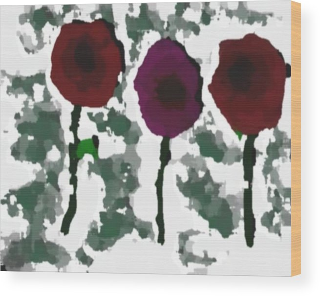 Flowers.love.happiness.gift.senses. Laughter Wood Print featuring the digital art Flowers Of Love by Dr Loifer Vladimir