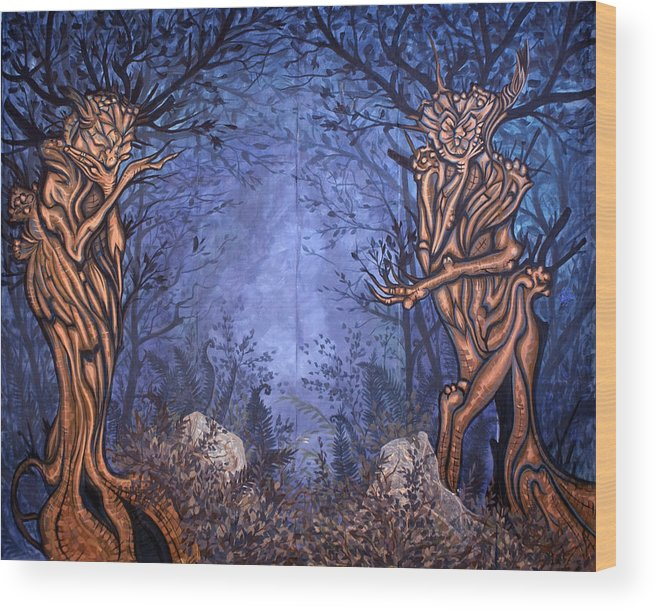 Mystic Wood Print featuring the painting Forest by Judy Henninger