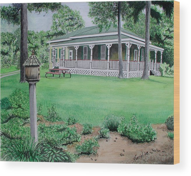 House Wood Print featuring the painting House Of David by Ferrel Cordle