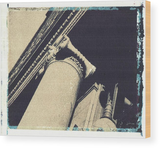 Polaroid Transfer Wood Print featuring the photograph Ionic by Bernice Williams