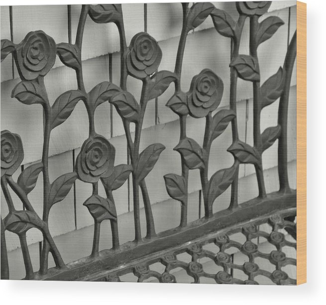 Wrought Wood Print featuring the photograph Iron Blooms by Jamart Photography