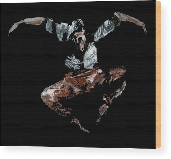 Ballet Wood Print featuring the painting Jump by Ana Bikic