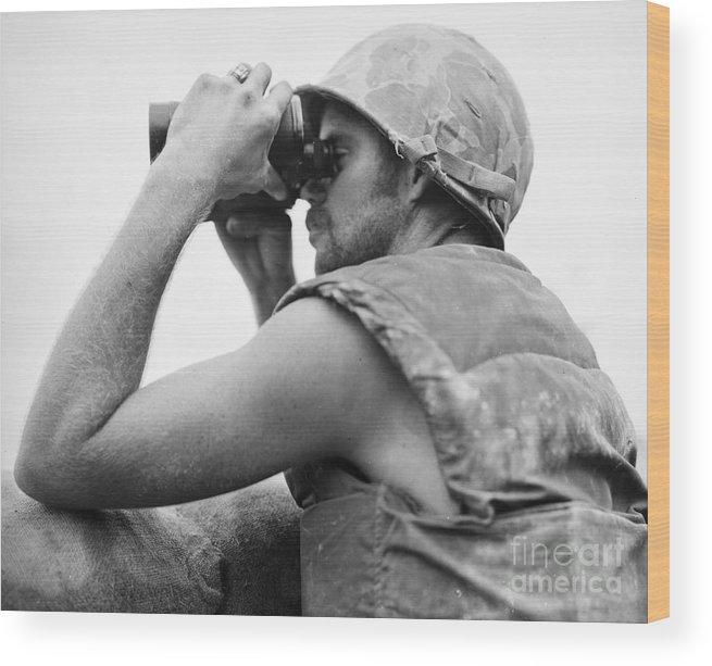 1952 Wood Print featuring the photograph Korean War: Bunker Hill by Granger