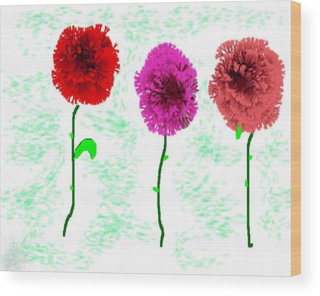 Flowers Wood Print featuring the digital art Language Of Flowers by Dr Loifer Vladimir