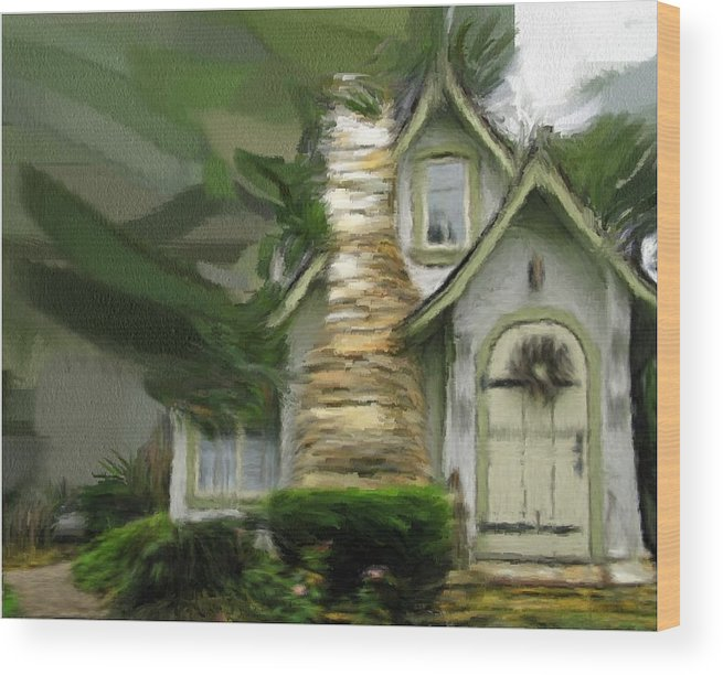 English Wood Print featuring the painting Mountain Cottage 6 by Phil Ward