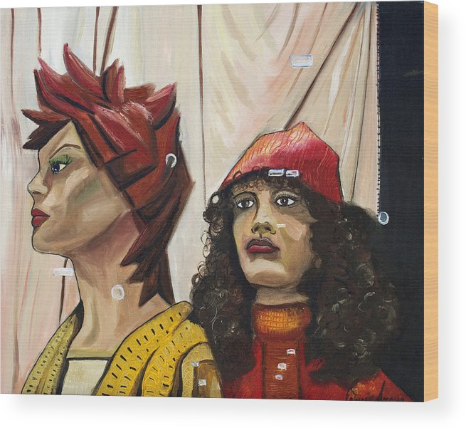 People Wood Print featuring the painting Nina And Star by Patricia Arroyo