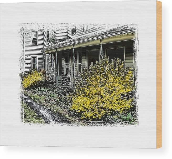 Landscape Wood Print featuring the photograph Old Homeplace by Robert Boyette