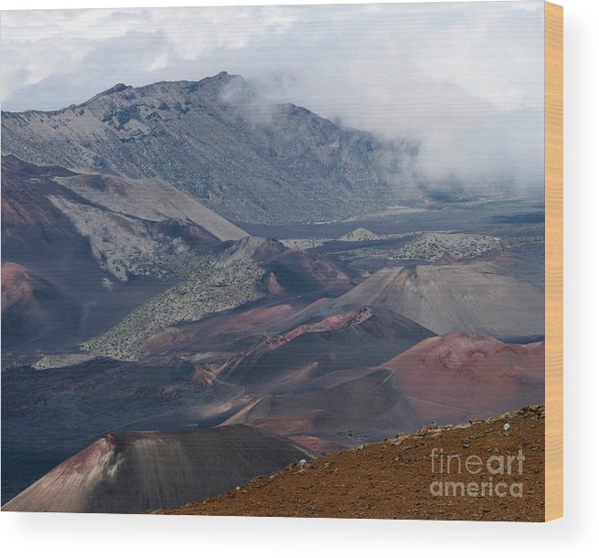 Aloha Wood Print featuring the photograph Pihanakalani Haleakala House Of The Sun Summit Maui Hawaii by Sharon Mau