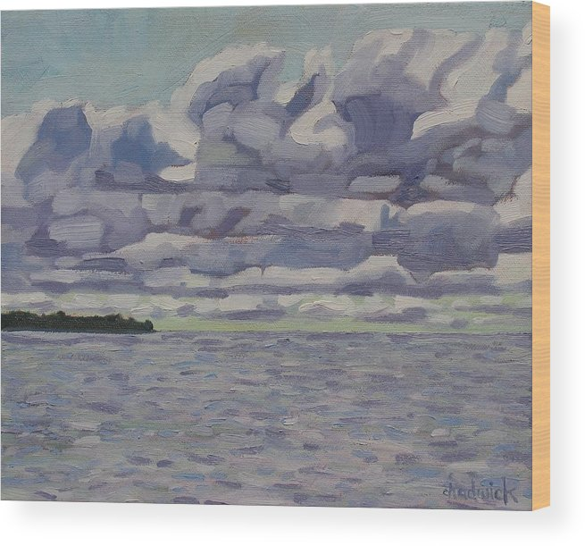 772 Wood Print featuring the painting Southampton Sc by Phil Chadwick