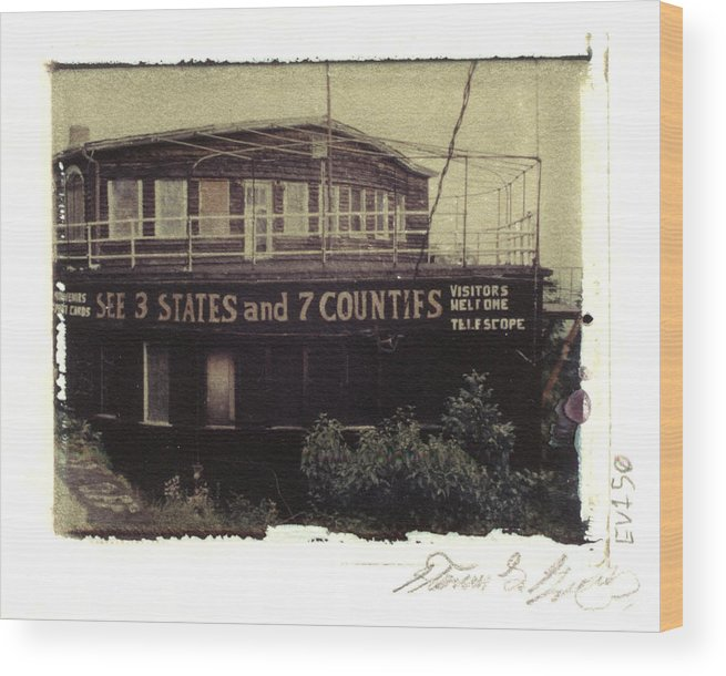 Pittsburgh Wood Print featuring the photograph S.s. Grand View Hotel...ship Of The Alleghenies Prow by Steven Godfrey
