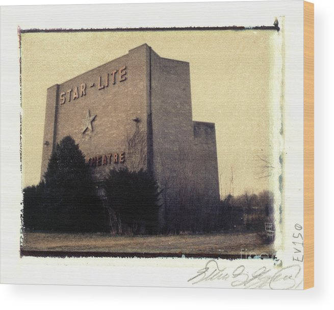 Polaroid Wood Print featuring the photograph Star-lite Drive-in by Steven Godfrey