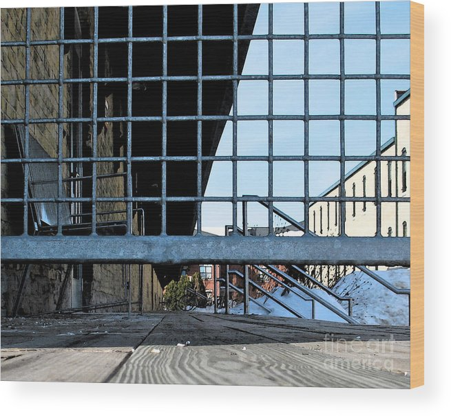 Perspective Wood Print featuring the photograph Streetscape 3 Housing by Gary Everson