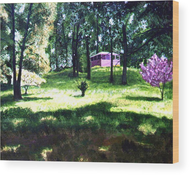 Landscape Wood Print featuring the painting T C Steel by Stan Hamilton