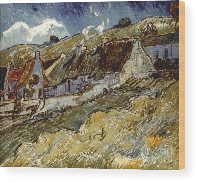 1890 Wood Print featuring the photograph Van Gogh: Cottages, 1890 by Granger