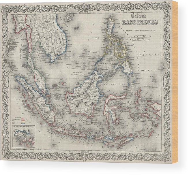Vintage map of indonesia and the philippines wood print by indonesia wood print featuring the drawing vintage map of indonesia and the philippines by cartographyassociates publicscrutiny Images