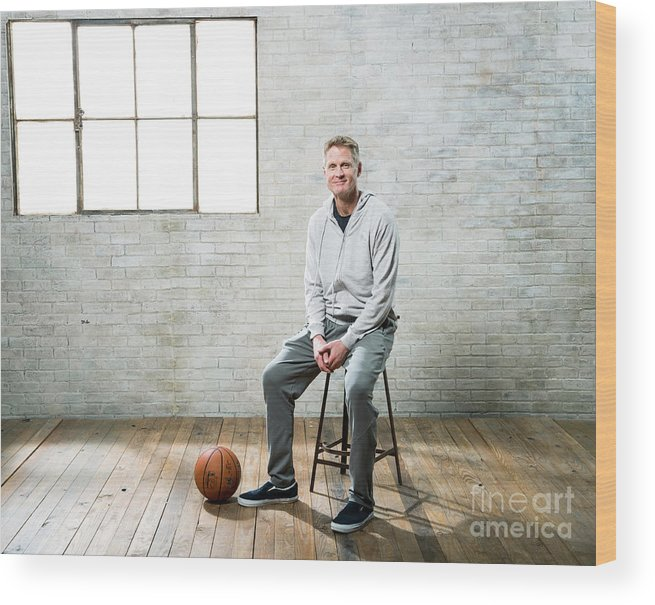 Nba Pro Basketball Wood Print featuring the photograph Nba All-star Portraits 2017 by Nathaniel S. Butler