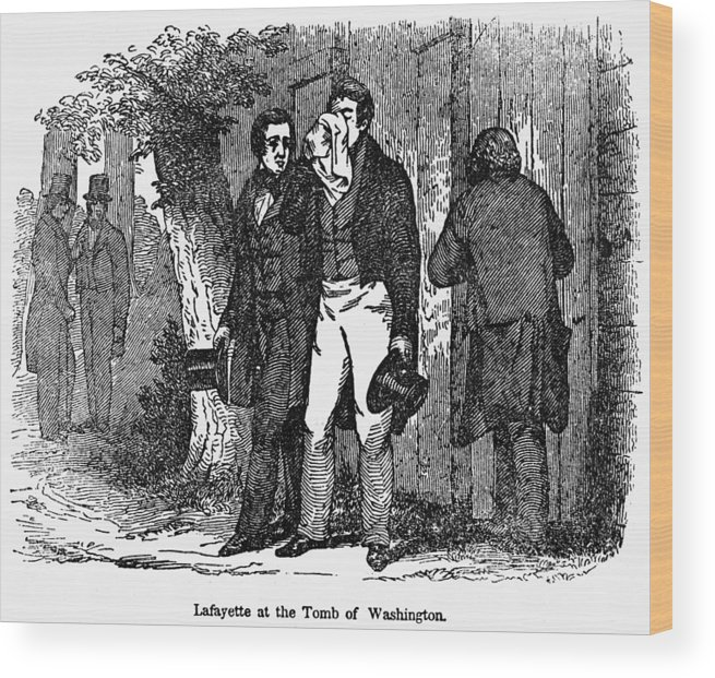 1825 Wood Print featuring the photograph Marquis De Lafayette by Granger