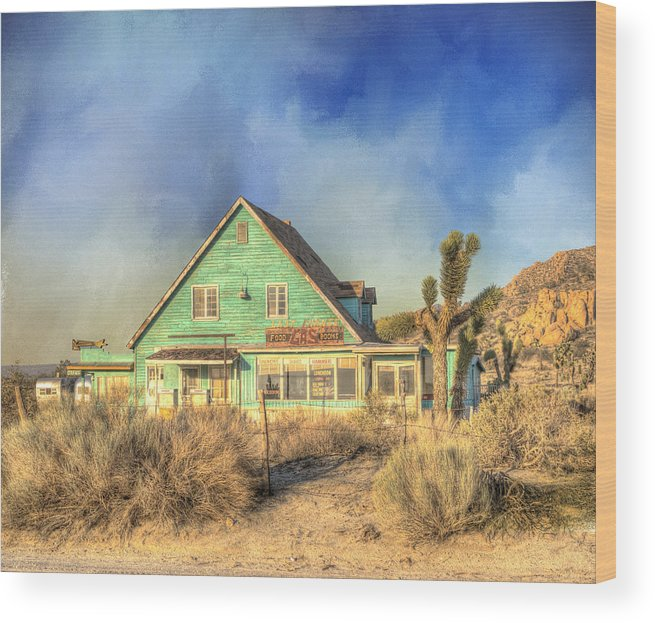 Building Exterior Wood Print featuring the photograph Last Chance by Juli Scalzi