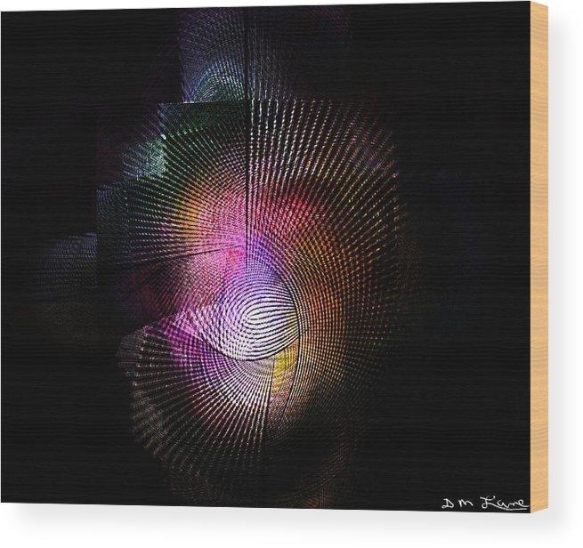 Fine Art Wood Print featuring the digital art Abstract110111b by David Lane