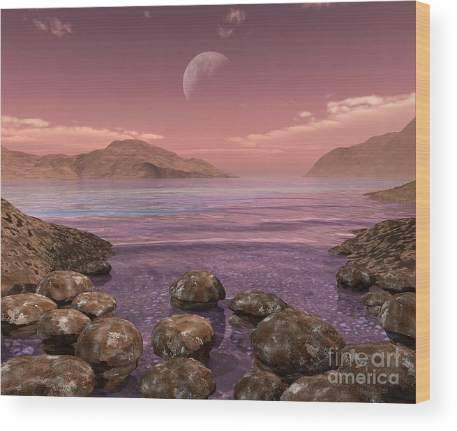 Earth Wood Print featuring the digital art Artists Concept Of Archean by Walter Myers