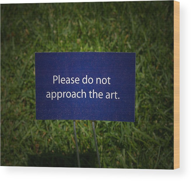 Sign Wood Print featuring the photograph Funny Sign by Brian Mollenkopf
