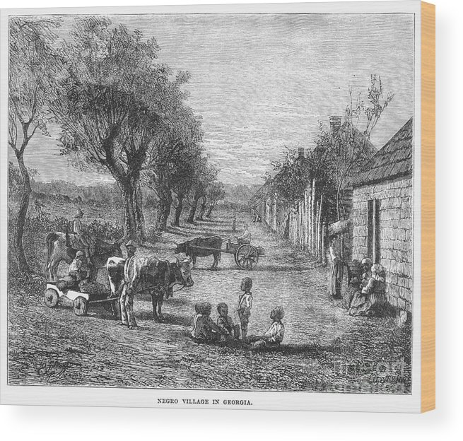 19th Century Wood Print featuring the photograph Georgia: Black Village by Granger