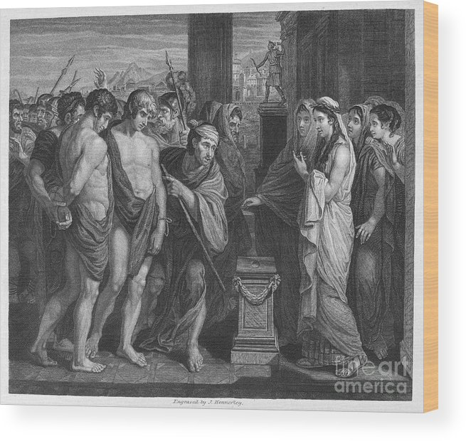 Ancient Wood Print featuring the photograph Pylades And Orestes by Granger