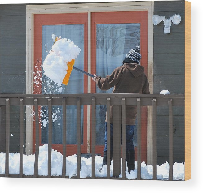 Mature Wood Print featuring the photograph Winter Snow. by Oscar Williams