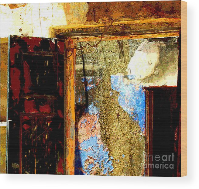 Michael Fitzpatrick Wood Print featuring the photograph Ancient Wall 3 By Michael Fitzpatrick by Mexicolors Art Photography