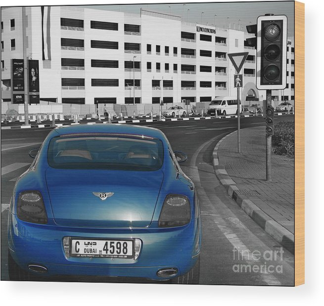 Bently Wood Print featuring the photograph Bently by Hussein Kefel