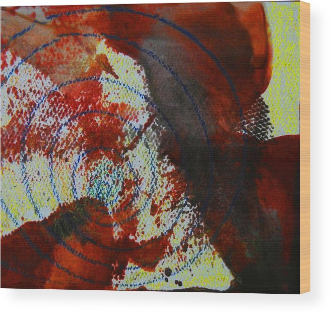 Abstract Wood Print featuring the painting Deep Sea by Kruti Shah
