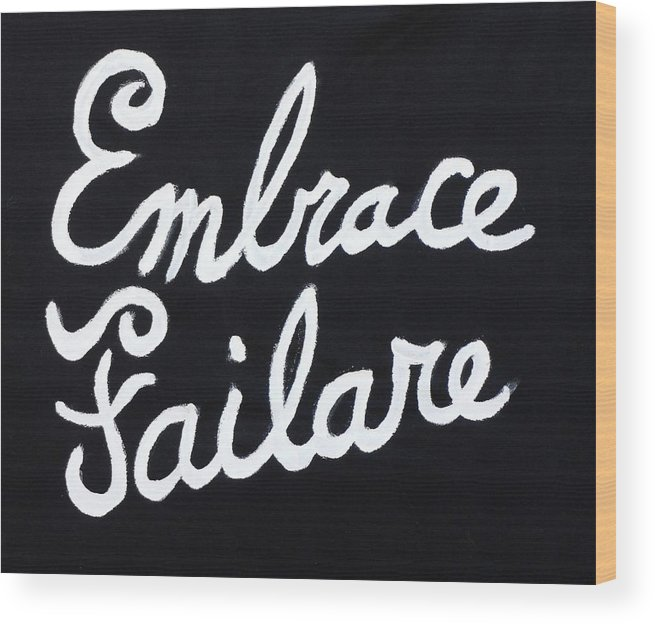 Failure Wood Print featuring the painting Embrace Failare by John Kilduff